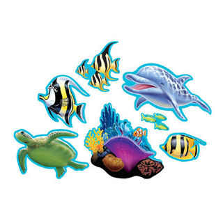 Ocean Party Cutouts Pk7