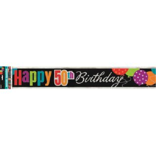 Banner Foil Birthday Cheer 50th