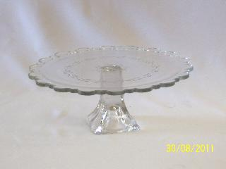 Cake stand - Glass single 30cm