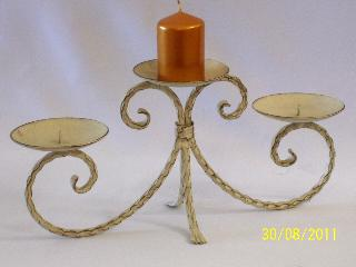 Candelabra - wrought Iron 3 point