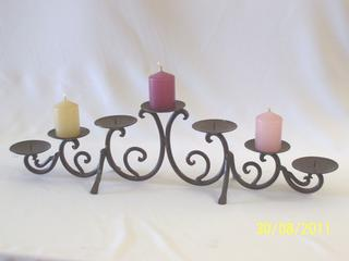 Candelabra - wrought Iron 7 point