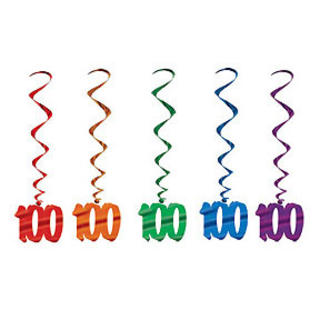 Dangling Birthday Whirls 100 Pk5
