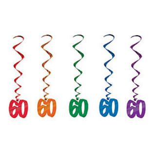 Dangling Birthday Whirls 60 Multi PK5