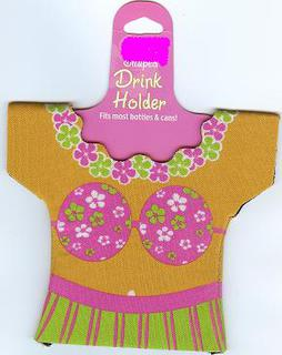 Luau Drink Holder - Hula Girl Each