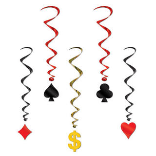 Casino Card Suit Whirls