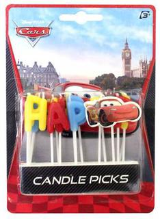 Cars Candle Pick Happy Birthday