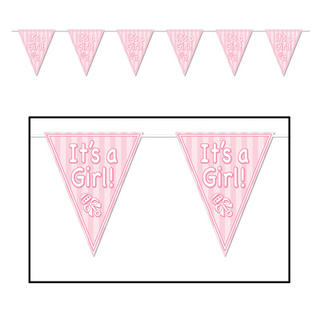 Baby Pennant Banner It's A Girl