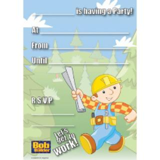 Bob The Builder Invitations Pk8