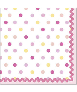 Tickled Pink Napkins Beverage Pk16