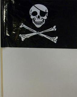 Flag Pirate 26 X 43cm plastic