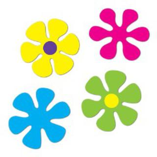 Retro Cutouts Flowers