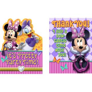 Minnie Dream Party Invites & TY Pk8