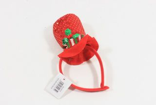 Christmas Head Band Mini Top Hat