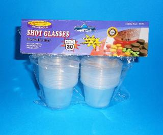 Shot Glasses Clear 60ml Pk30