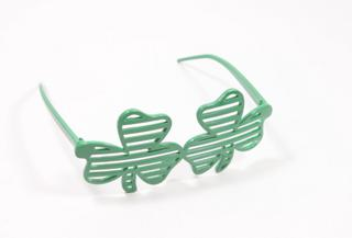 St Patricks Party Glasses Shutter Shamrock