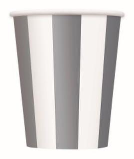 Cups Stripes Silver Pk6