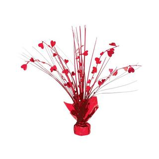 Centrepiece Spray Hearts Red