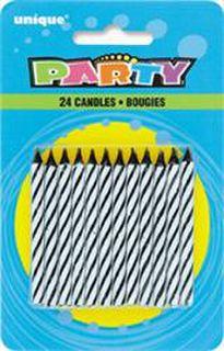 Candles Spiral Black Pk24