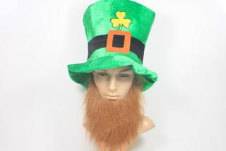 St Patricks Shamrock Hat with Beard