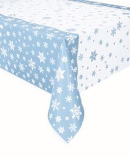 Table Cover Snowflakes Blue 1.37x2.13