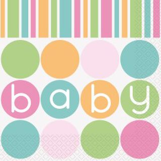 Baby Shower Pastel Lunch Napkins Pk16