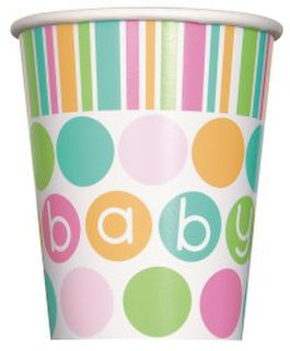 Baby Shower Pastel Cups 9oz Pk8