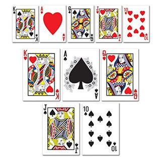 Casino Mini Card Cutouts 13cm Pk10