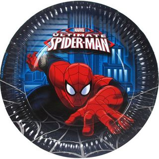 Spiderman Ultimate Paper Plates Pk8
