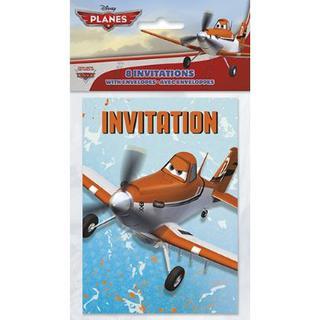 Planes Invitations Pk8