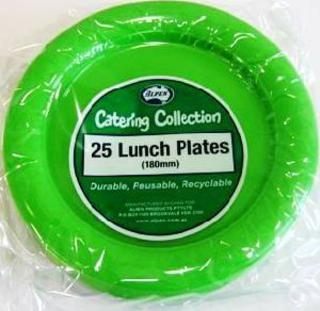 Plate 180mm Lime Green Pk25