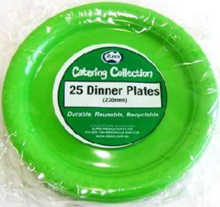 Plate 230mm Lime Green Pk25