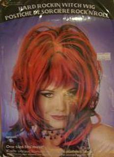 Wig - Hard Rocking Witch Black & Red