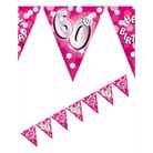 Bunting Flag Pennant Banner Birthday Pink 60th