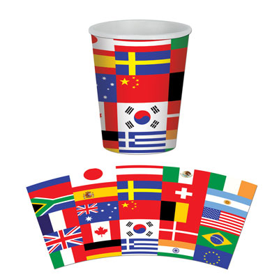Cups - International Flag Beverage Cups