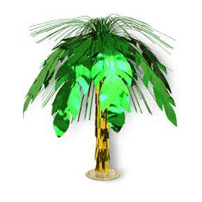 CASCADE CENTREPIECE - PALM TREE 18IN.