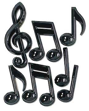 PLASTIC MUSICAL NOTES