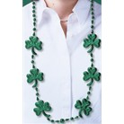 St Patricks Shamrock Beads Necklace