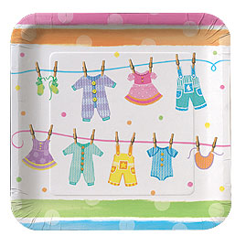 Plates - Baby Clothes Dessert Plate
