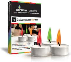 Candle Colour Tealight In Glass Cups Pk6