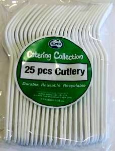 Cutlery Forks White Pk25