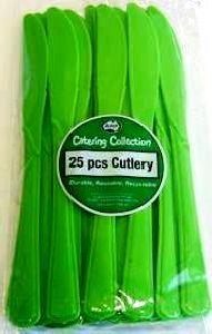 Cutlery Knives Lime Green Pk25