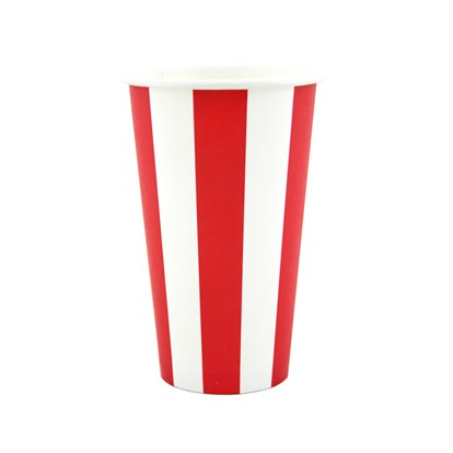Cups Milkshake Red Stripe Pk8