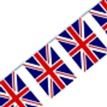 Bunting Flag Pennant Banner - Union Jack 3M (12 flags)