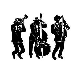 Musical Jazz Trio Silhouettes Pk3
