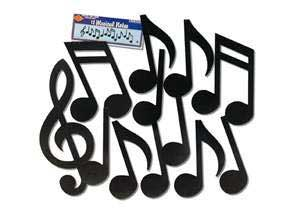 Musical Notes Silhouettes