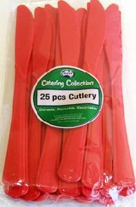Cutlery Knives Red Pk25
