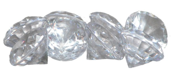 Acrylic Clear Diamante Pk8