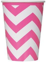 Cups Chevron Hot Pink Pk6