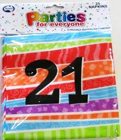Napkins Lunch Luau Party 21 Pk25