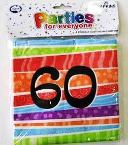 Napkins Lunch Luau Party 60 Pk25